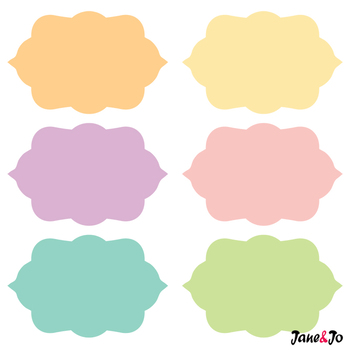 Label clipart pastel. Frame png tag borders