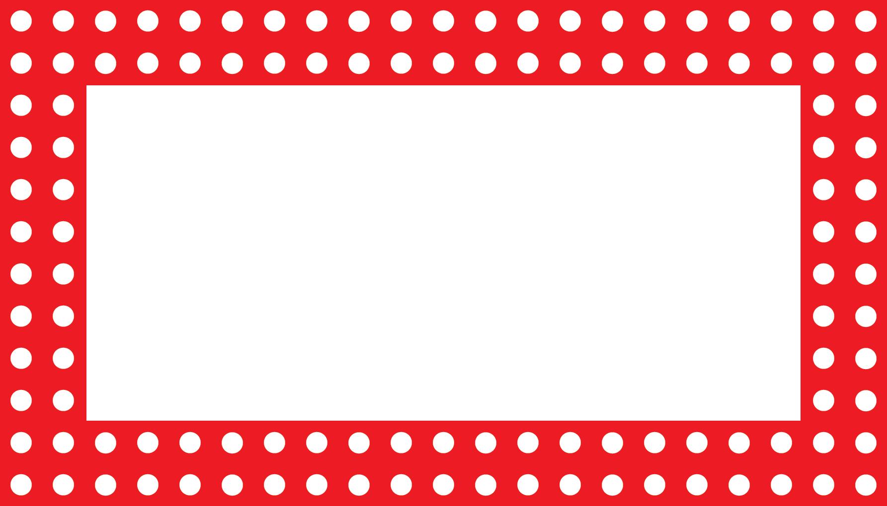 Red dots randen en. Label clipart polka dot