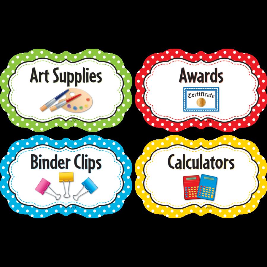Label clipart polka dot. Labels educators at heart
