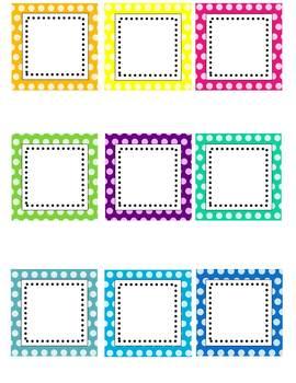 Editable labels clip art. Label clipart polka dot
