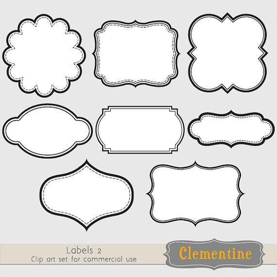 Label clipart printable. Labels clip art images