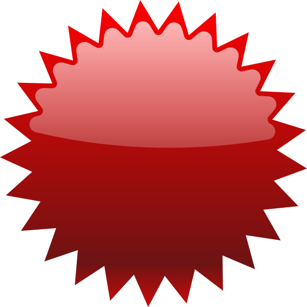 star price tag. Label clipart red