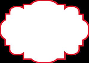 Label clipart red. Large clip art panda
