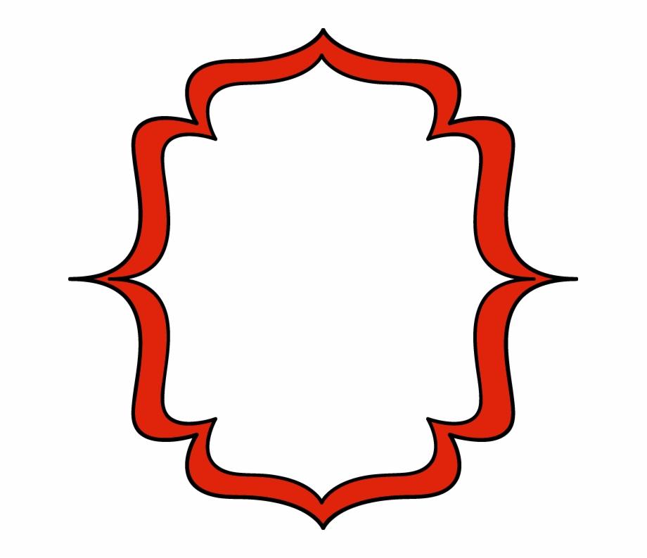 Bracket labels png frame. Label clipart red
