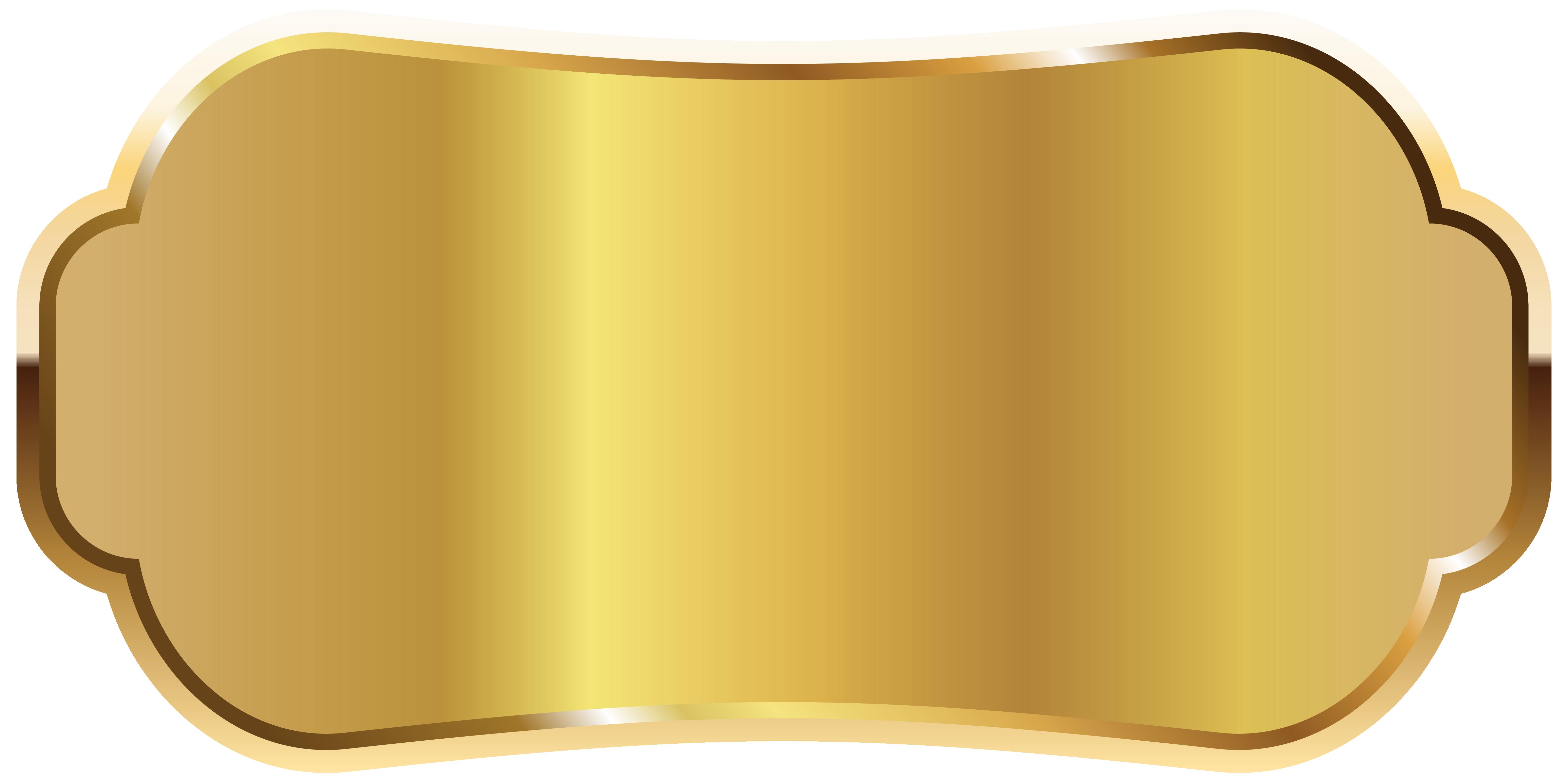 Label clipart royalty free. Golden png image urj