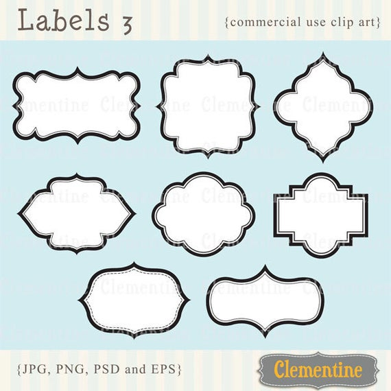 Label clipart royalty free. Labels printable clip art