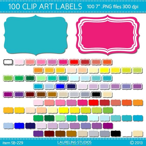 digital clip art. Label clipart scrapbook