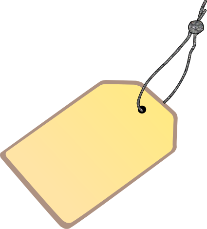 Tag with light blanks. Label clipart string