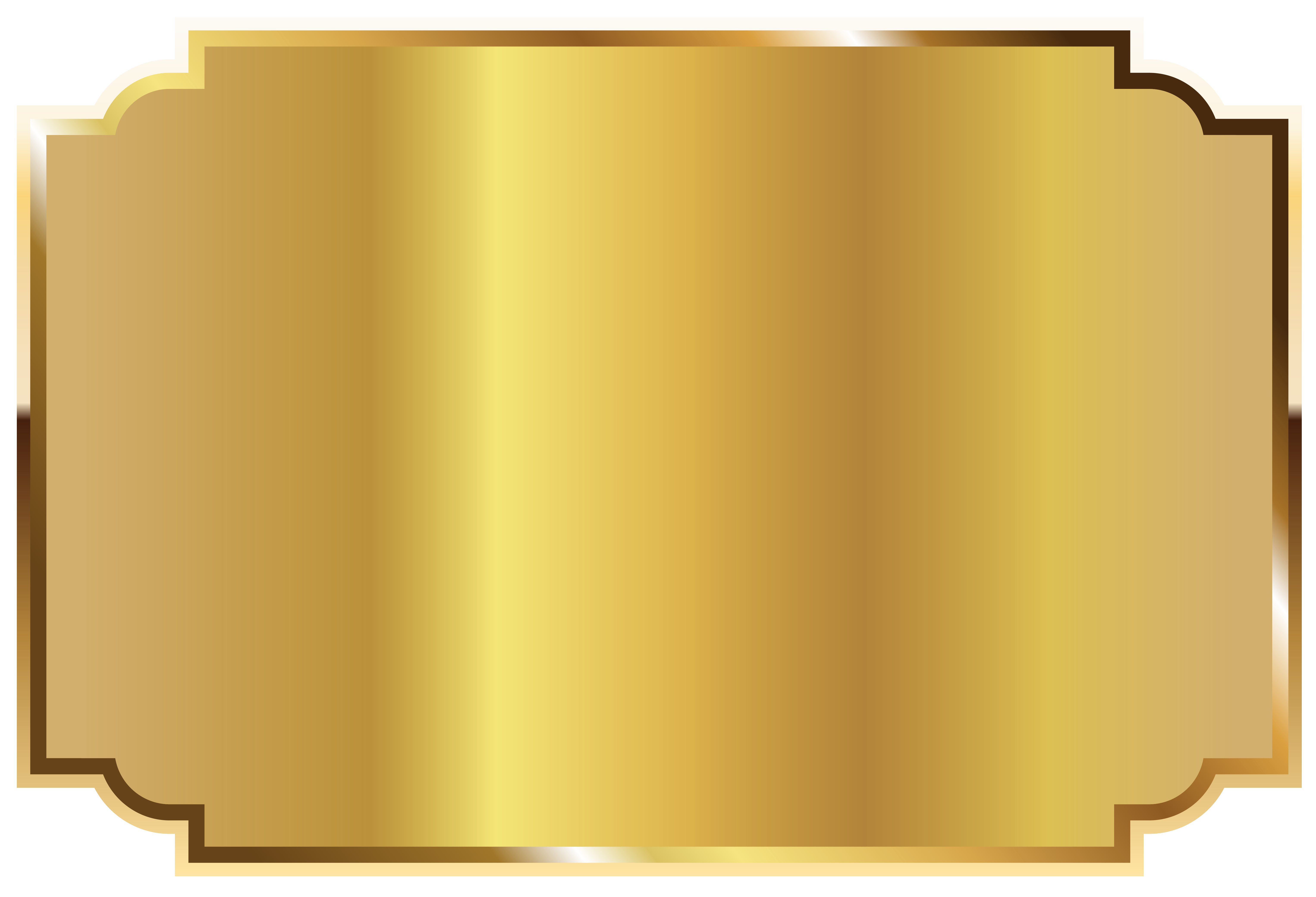 Golden picture slika in. Label clipart template