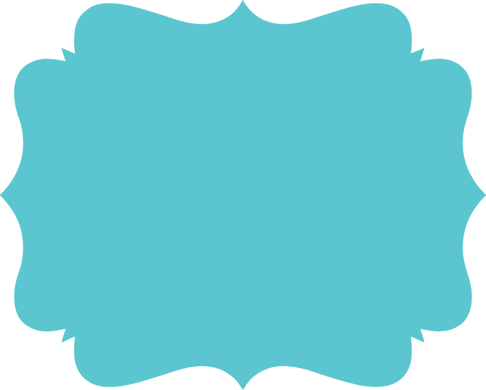 Label clipart turquoise.  png frames convites