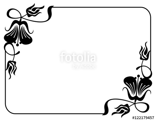 Label clipart wedding invitation. Silhouette flower frame design