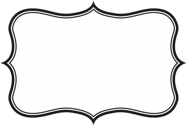Frame silhouette pinterest images. Label clipart