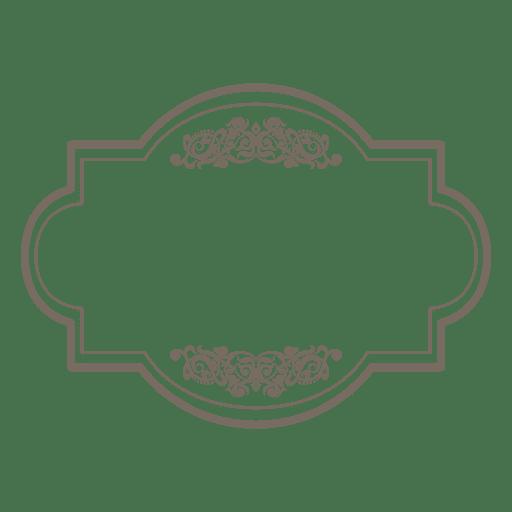 Square round floral transparent. Label frame png