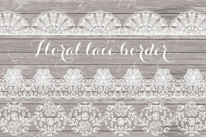 Border rustic wedding invitation. Lace clipart