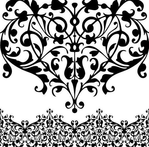 Digital borders clip art. Lace clipart
