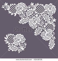 Lace clipart. White clip art free