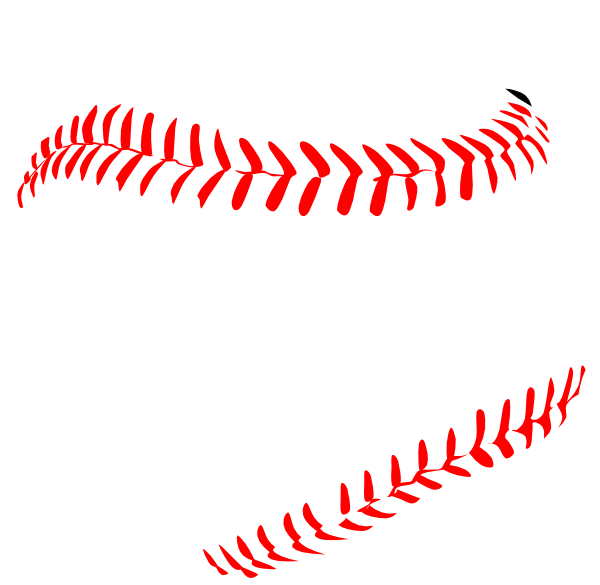 Red laces clip art. Stitch clipart softball