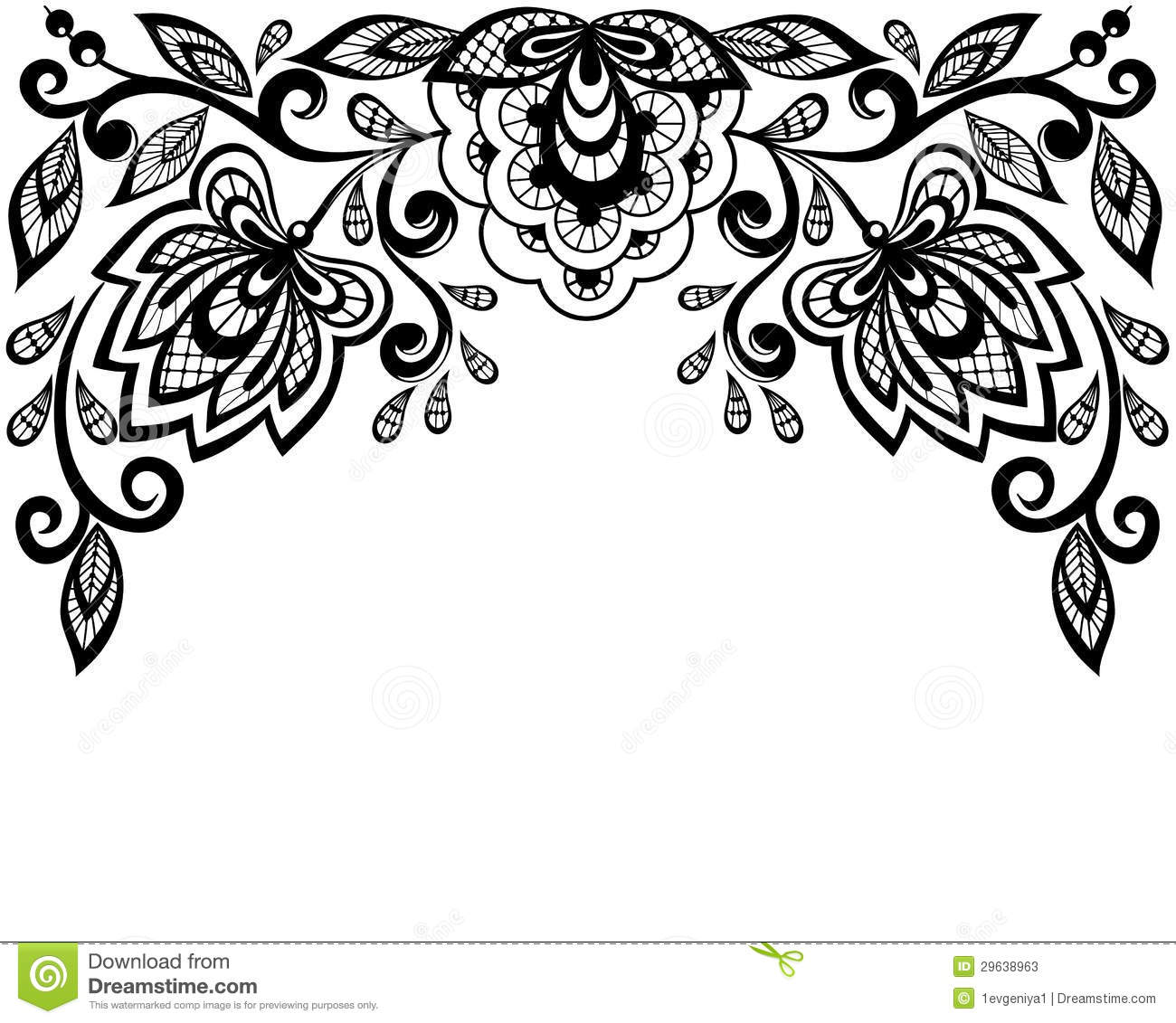 Free download best on. Lace clipart black and white