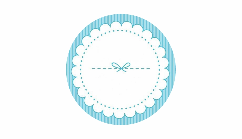 Blue deco circle round. Lace clipart blank