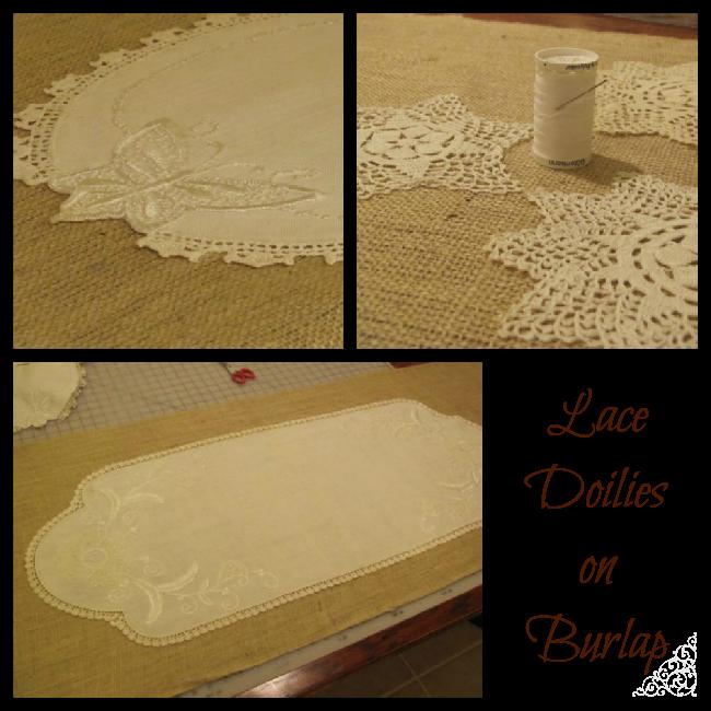 Lace clipart burlap lace. Our wedding table decor