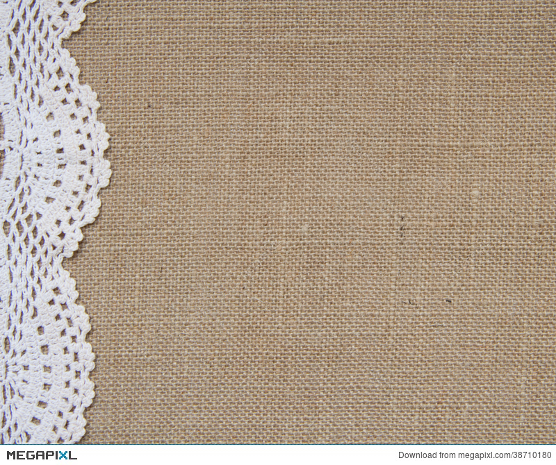 Lace clipart burlap lace. Background with stock photo