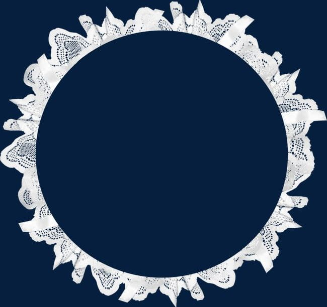 Lace clipart circle. White png