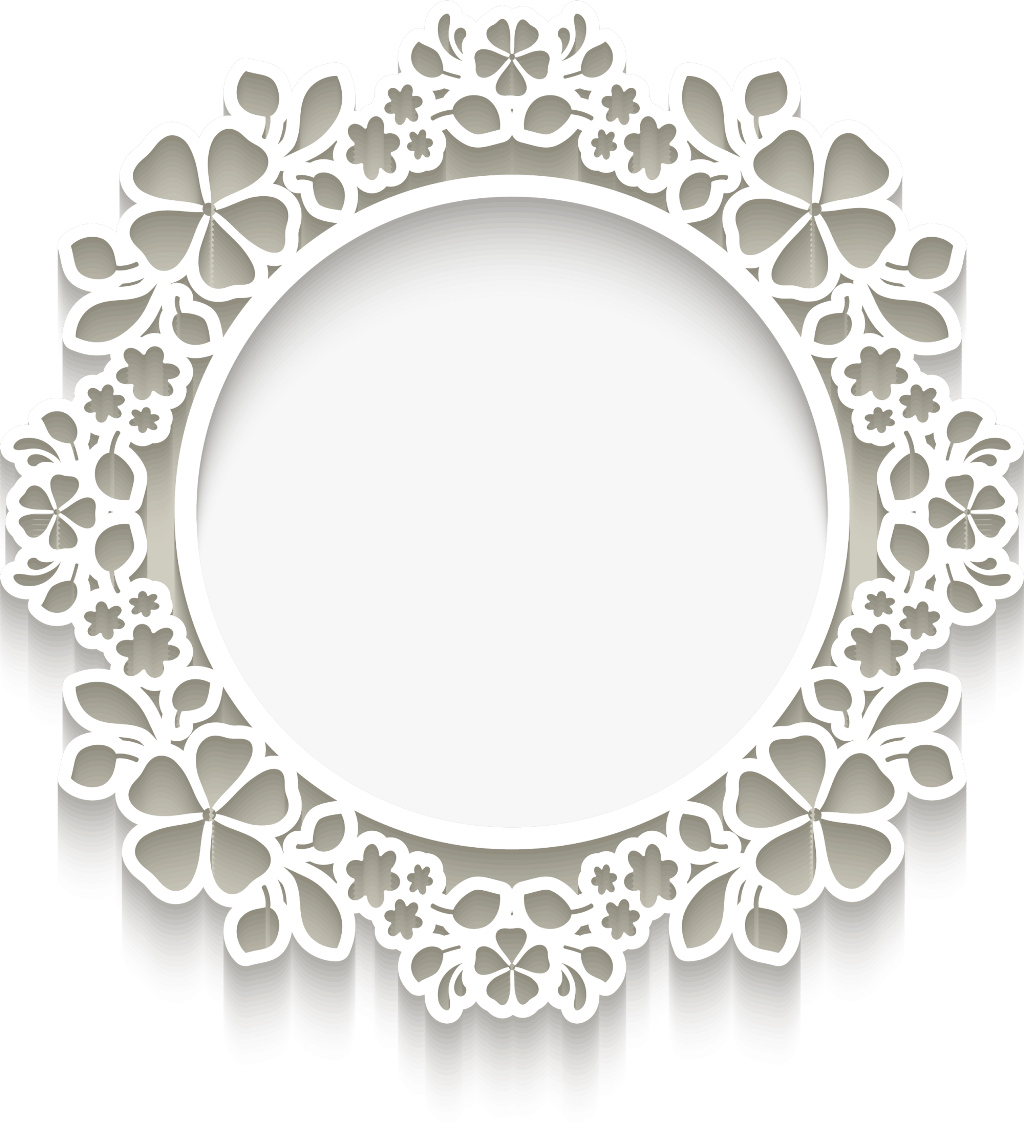 Frame hd white d. Lace clipart doily