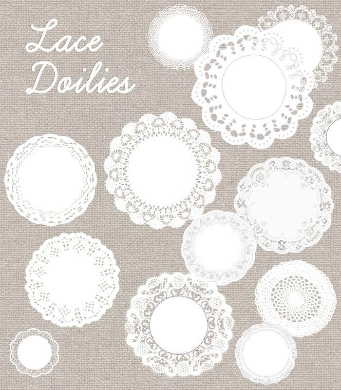 Lace clipart doily. Vector download clip art