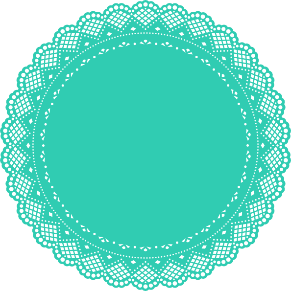 Free images turquoise svg. White clipart doily