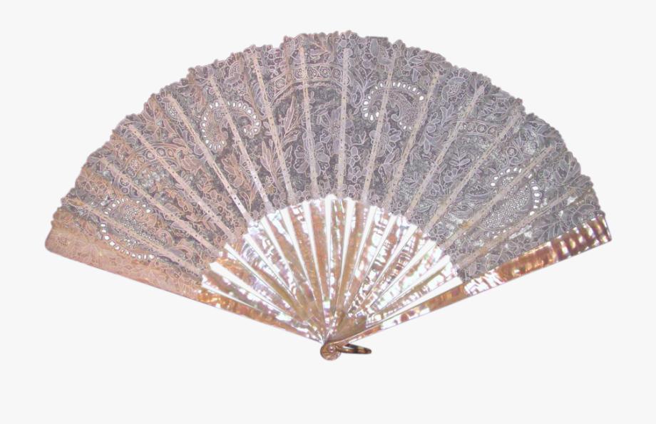 Lace clipart fan. Antique victorian point de