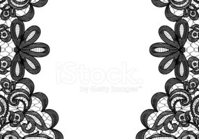 Stock vectors me . Lace clipart frame
