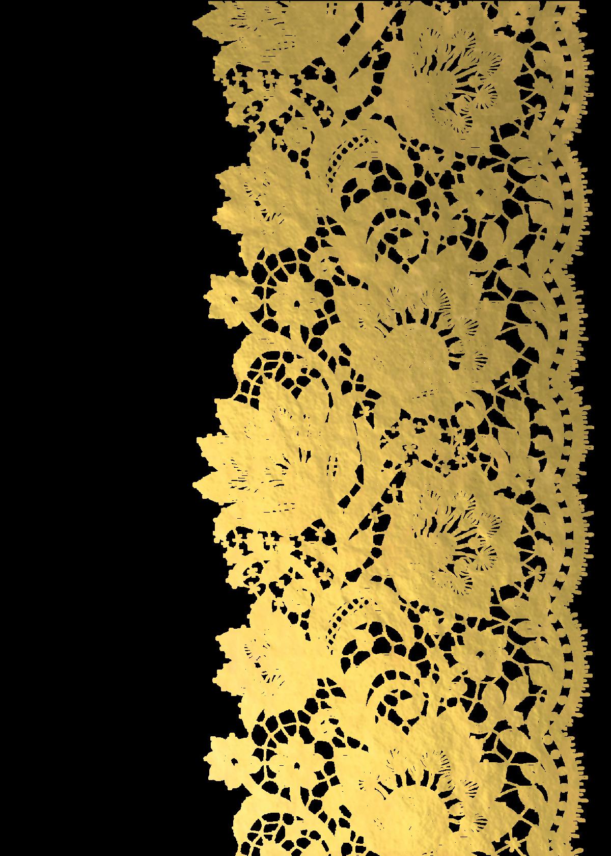 lace clipart gold lace