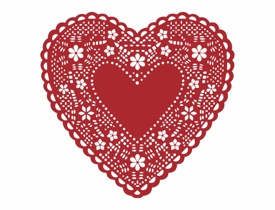 x valentine free. Lace clipart heart shaped