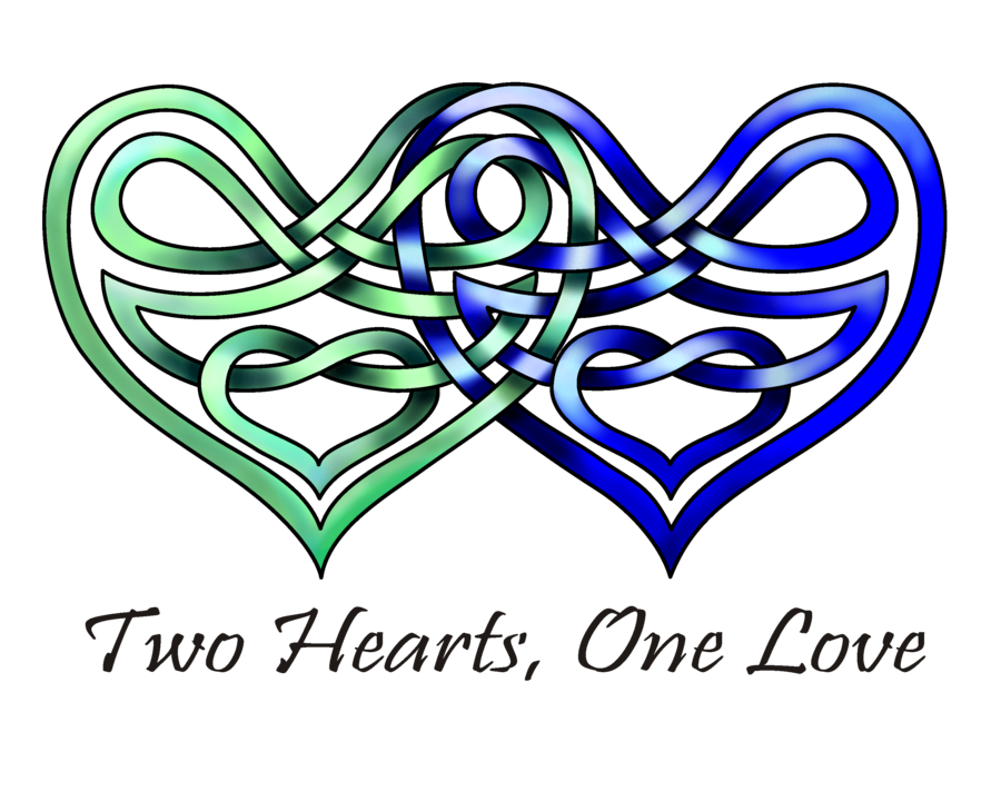 Lace clipart knot. Two hearts by knotyourworld
