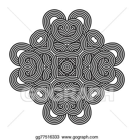 Lace clipart knot. Vector art celtic pattern
