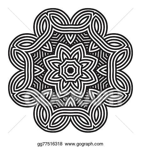 Vector art celtic pattern. Lace clipart knot