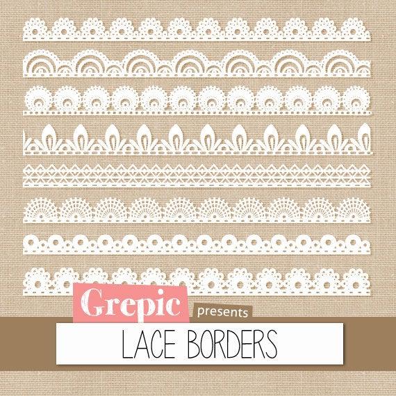 Pack grepic clip art. Lace clipart lace digital