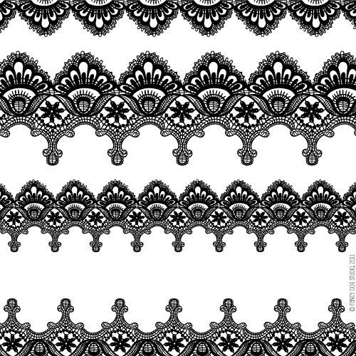 Clip art library . Lace clipart lace print