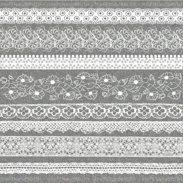 Lace clipart lace ribbon. Clip art set of