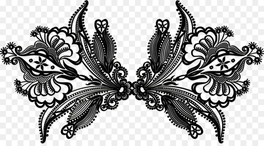 Butterfly black and white. Lace clipart lace ribbon