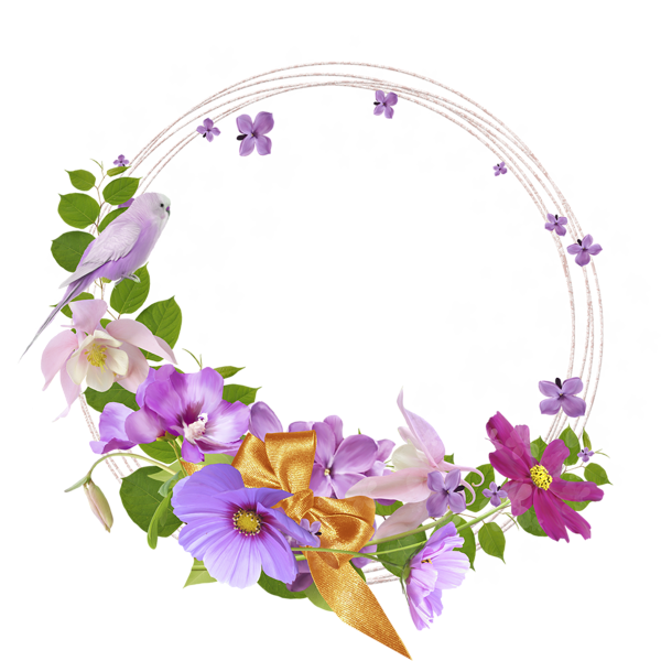 Free flowers graphic frames. Lace clipart magic flower