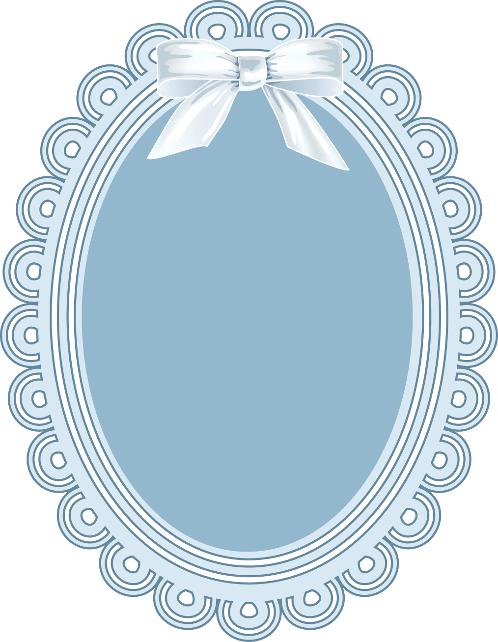 Download computer file blue. Oval clipart lace