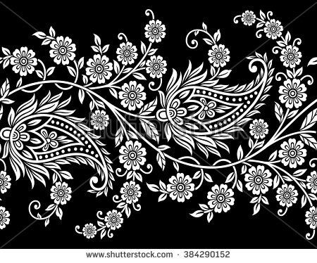 Free vector download art. Lace clipart paisley border