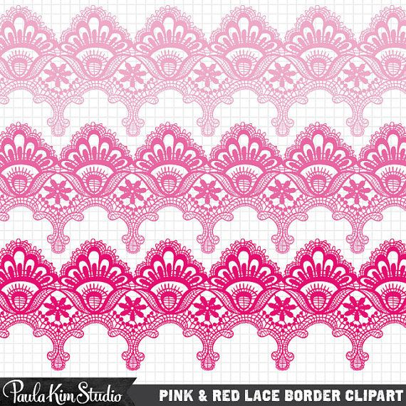 Red clip art by. Lace clipart pink lace