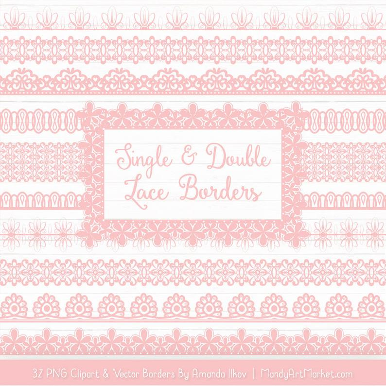 Soft borders vectors vector. Lace clipart pink lace