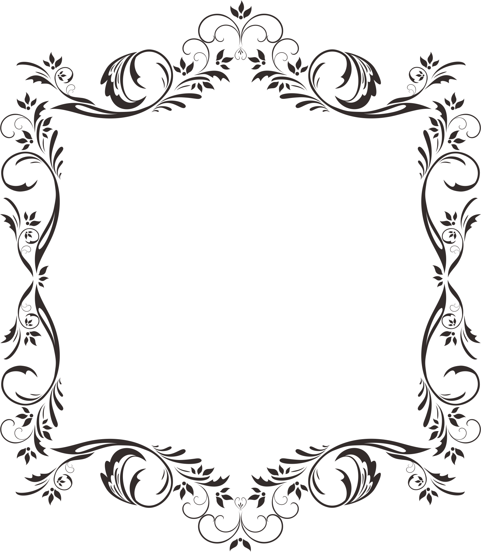 Corner pattern material transprent. Lace clipart rectangle