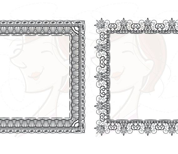 Lace clipart rectangle.  borders frames graphic