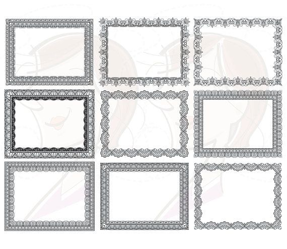 Borders frames graphic diy. Lace clipart rectangle