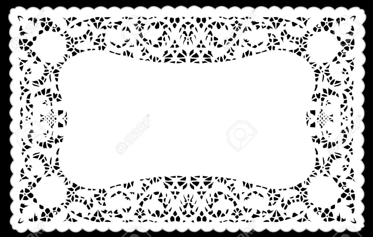 Lace clipart rectangle. Doily cliparts clip art