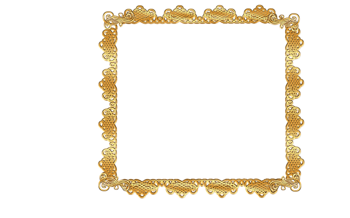 Lace clipart scroll. Gold frame by writerfairy